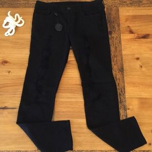 Black Orchid Distressed Black Skinny Jeans size 31